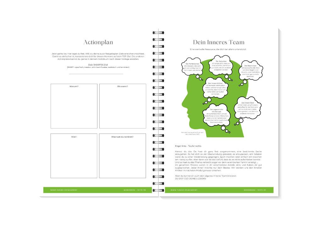 YUNIKE Academy Workbook Vorschau 12-13