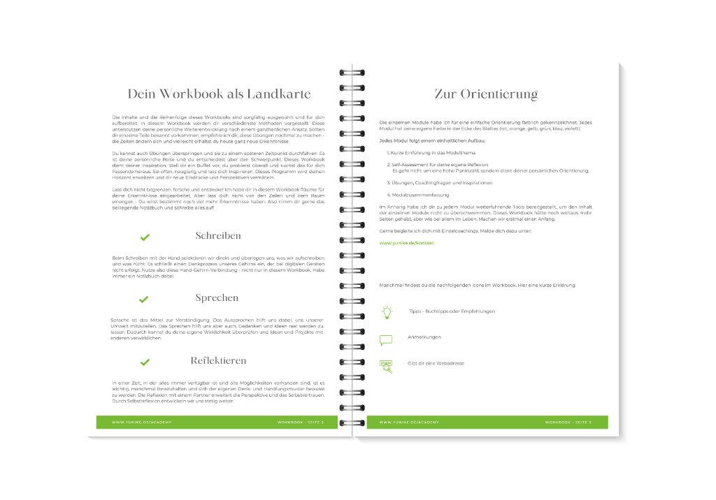 YUNIKE Academy Workbook Vorschau 4-5