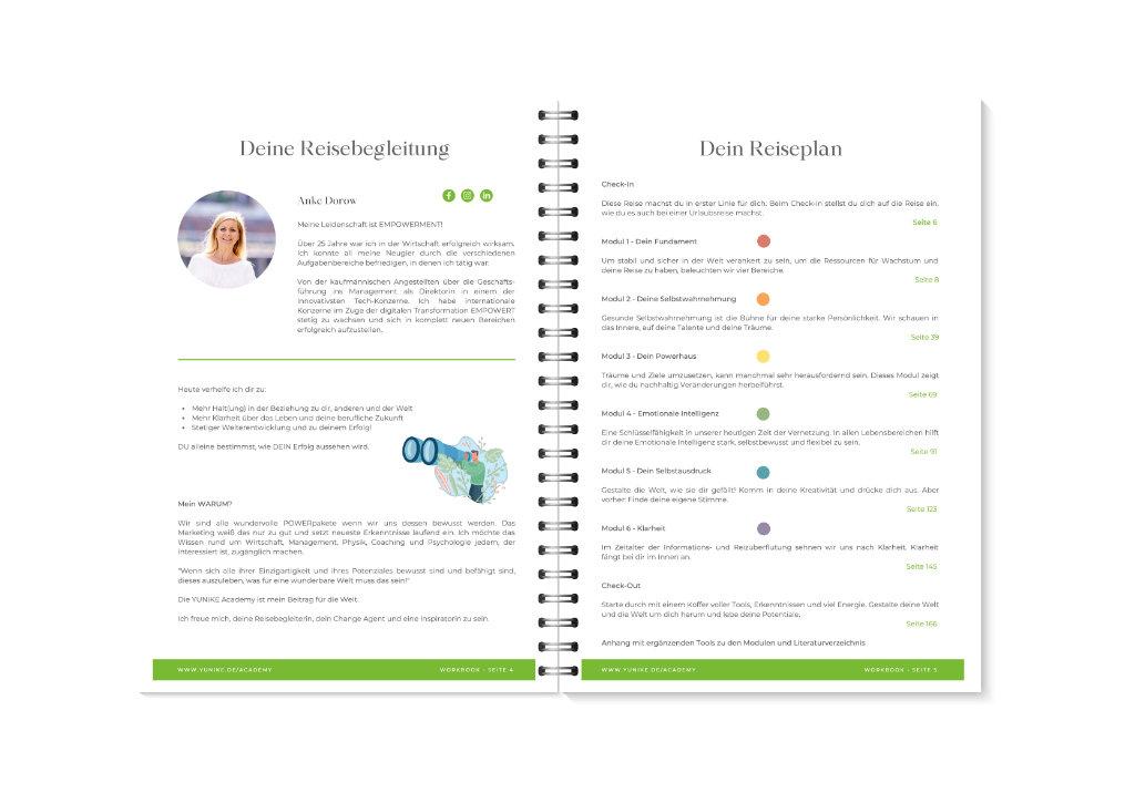YUNIKE Academy Workbook Vorschau 6-7