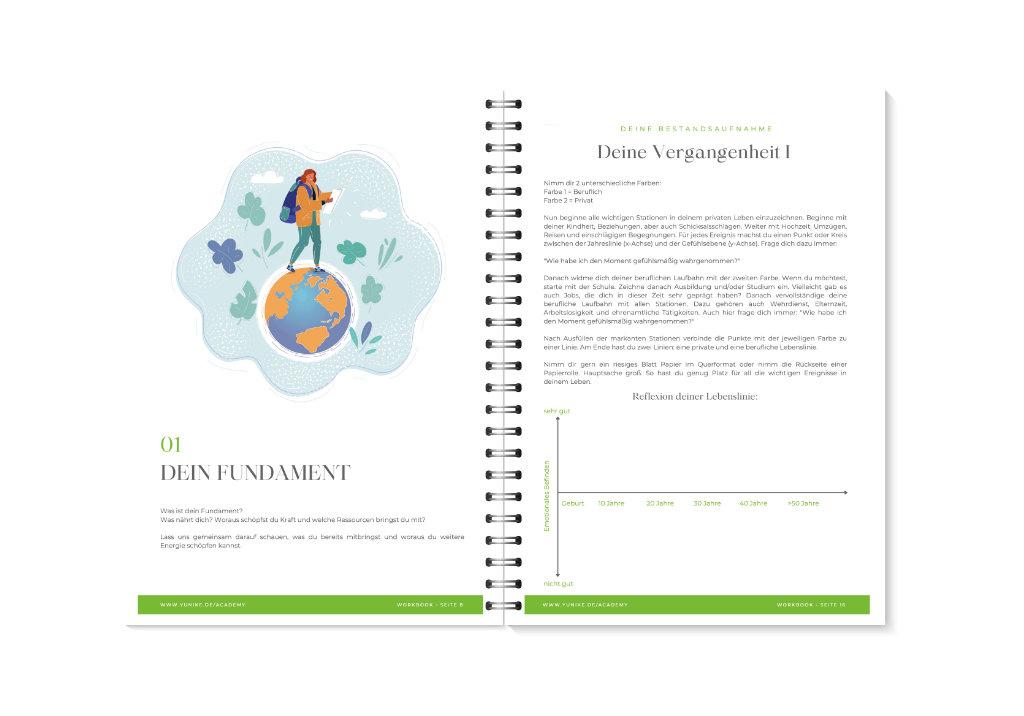 YUNIKE Academy Workbook Vorschau 8-9